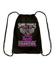 CALL ME CRITIC GRANDMA JOB SHIRTS Drawstring Bag thumbnail