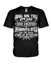 ON 8TH DAY ENVIRONMENTAL OFFICER JOB SHIRTS V-Neck T-Shirt thumbnail