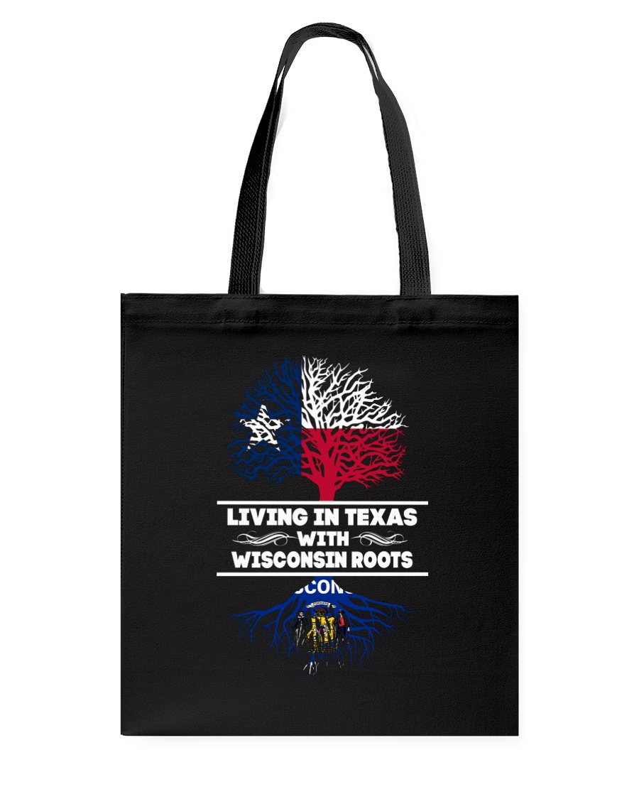 TEXAS WITH WISCONSIN ROOT SHIRTS Tote Bag