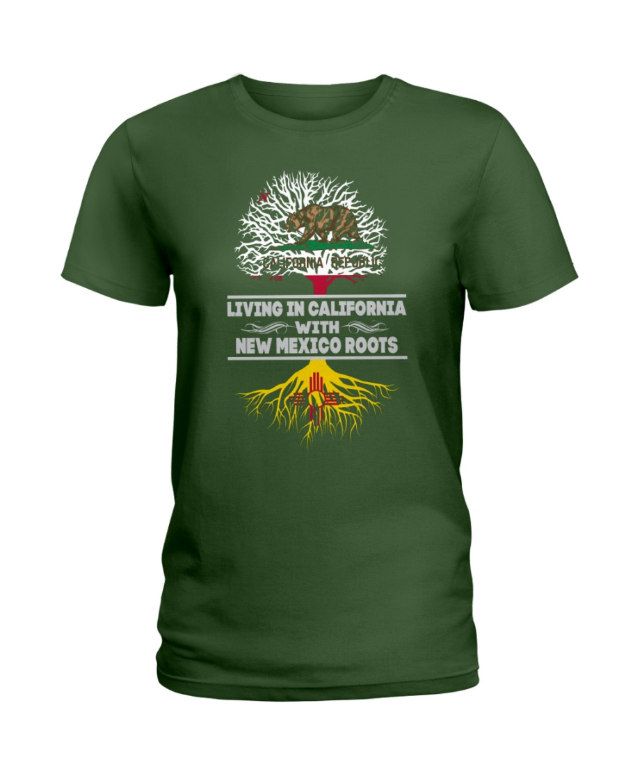 CALIFORNIA WITH NEW MEXICO SHIRTS Ladies T-Shirt