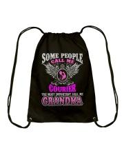 CALL ME COURIER GRANDMA JOB SHIRTS Drawstring Bag thumbnail