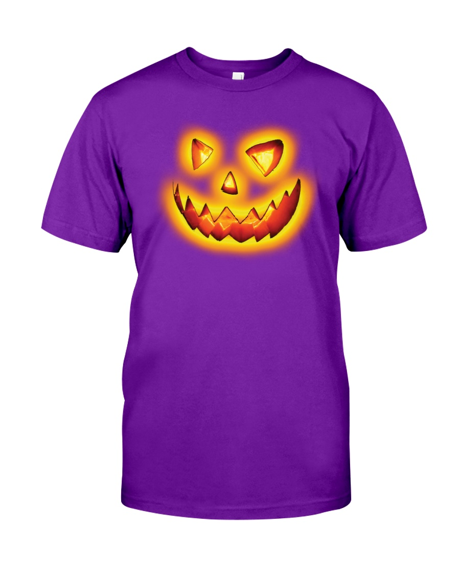 Halloween custome face pumpkin shirt  Classic T-Shirt