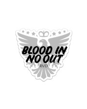 Blood In No Out Sticker - Single (Horizontal) front