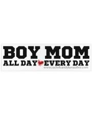 Boy Mom Bumper Sticker thumbnail