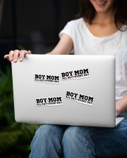 Boy Mom Sticker - 4 pack (Horizontal) aos-sticker-4-pack-horizontal-lifestyle-front-14