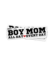 Boy Mom Sticker - 4 pack (Horizontal) front
