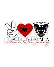 Peace-Love-Mafia Sticker - Single (Horizontal) front
