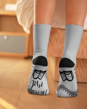 Shhhhh I'm Reading RVD Crew Length Socks aos-accessory-crew-length-socks-lifestyle-back-01