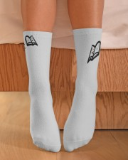 Shhhhh I'm Reading RVD Crew Length Socks aos-accessory-crew-length-socks-lifestyle-front-02