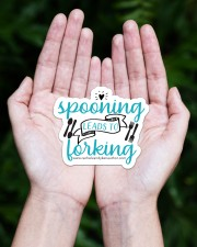Spooning Leads To Forking Sticker - Single (Horizontal) aos-sticker-single-horizontal-lifestyle-front-20