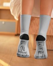 Leave Me Alone I'm Reading RVD Crew Length Socks aos-accessory-crew-length-socks-lifestyle-back-01