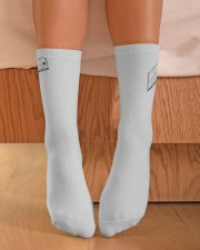 Leave Me Alone I'm Reading RVD Crew Length Socks aos-accessory-crew-length-socks-lifestyle-front-02
