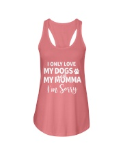 Only Love Dogs and Momma Tee Ladies Flowy Tank front