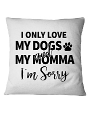 Only Love Dogs and Momma Tee Square Pillowcase thumbnail