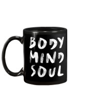 Yoga Body Mind Soul Black Mug Mug back