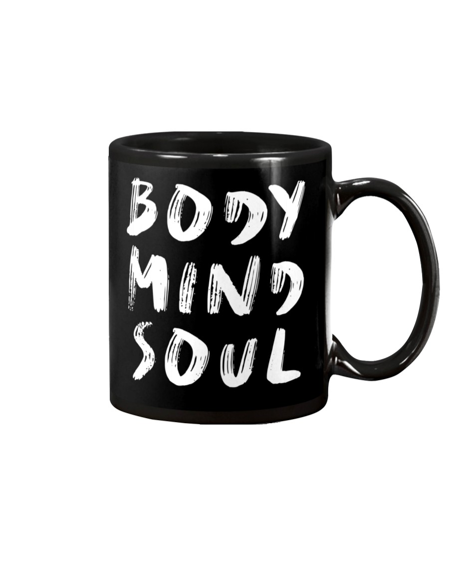 Yoga Body Mind Soul Black Mug Mug