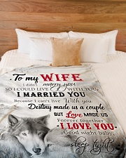 """To My Wife I Love You Large Fleece Blanket - 60"""" x 80"""" aos-coral-fleece-blanket-60x80-lifestyle-front-02"""