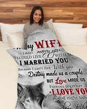 """To My Wife I Love You Large Fleece Blanket - 60"""" x 80"""" aos-coral-fleece-blanket-60x80-lifestyle-front-05"""