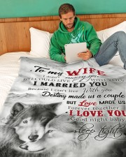 """To My Wife I Love You Large Fleece Blanket - 60"""" x 80"""" aos-coral-fleece-blanket-60x80-lifestyle-front-06"""