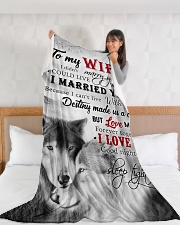"""To My Wife I Love You Large Fleece Blanket - 60"""" x 80"""" aos-coral-fleece-blanket-60x80-lifestyle-front-11"""