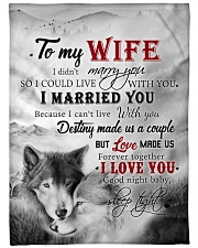 """To My Wife I Love You Large Fleece Blanket - 60"""" x 80"""" front"""