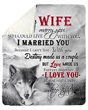 To My Wife I Love You Sherpa Fleece Blanket tile
