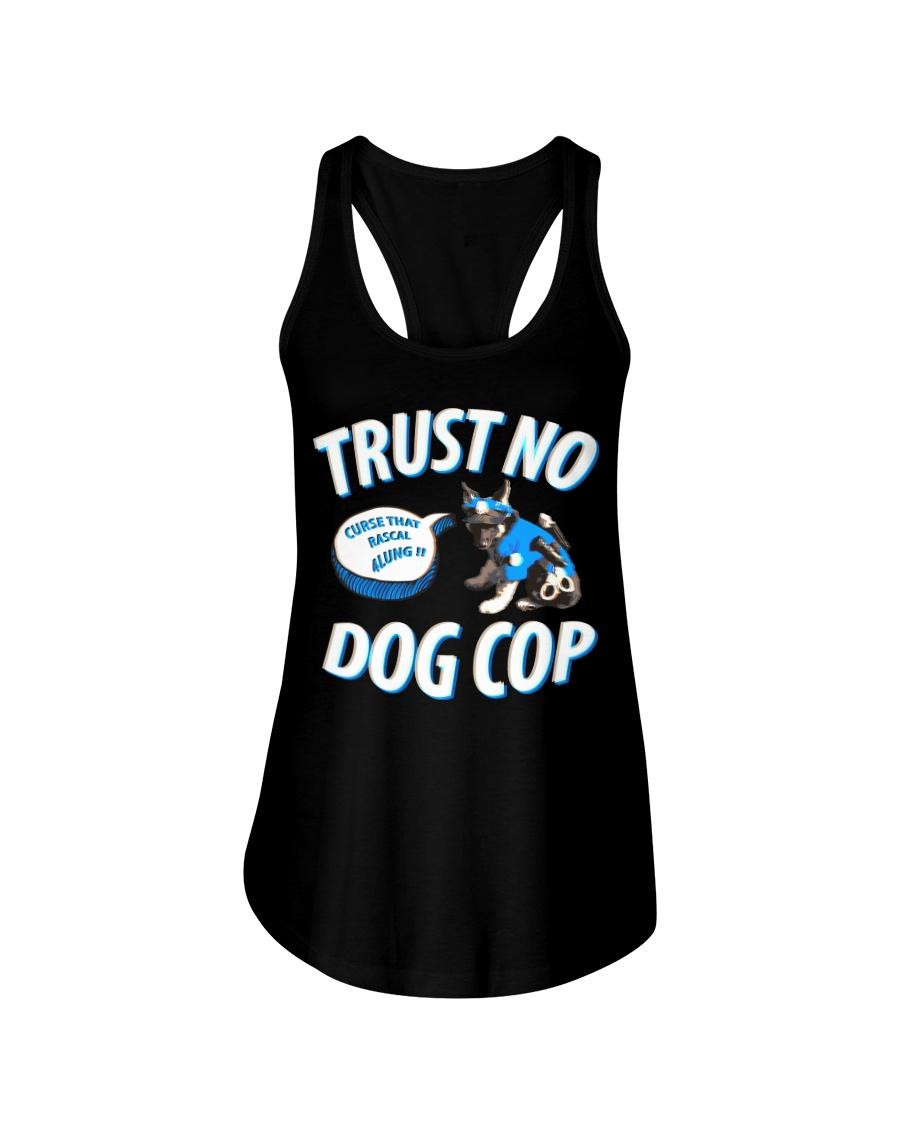 Trust No Dog Cop Ladies Flowy Tank