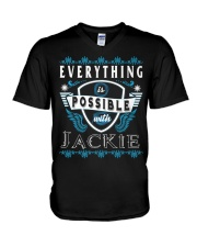 Everything Possible With Jackie  V-Neck T-Shirt thumbnail