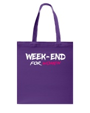 Weekend For Women Bag Flat Color Design Modern  Tote Bag front