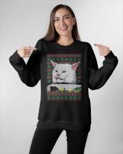 Cat Getting Yelled Crewneck Sweatshirt apparel-crewneck-sweatshirt-lifestyle-front-11