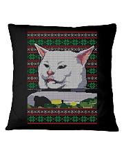 Cat Getting Yelled Square Pillowcase thumbnail