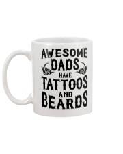 Awesome Dads Have Tattoos and Beards Mug Mug back