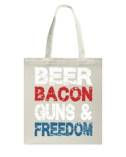 Beer Bacon Guns And Freedom Tank Top Tote Bag tile