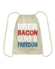 Beer Bacon Guns And Freedom Tank Top Drawstring Bag thumbnail