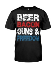 Beer Bacon Guns And Freedom Tank Top Classic T-Shirt thumbnail
