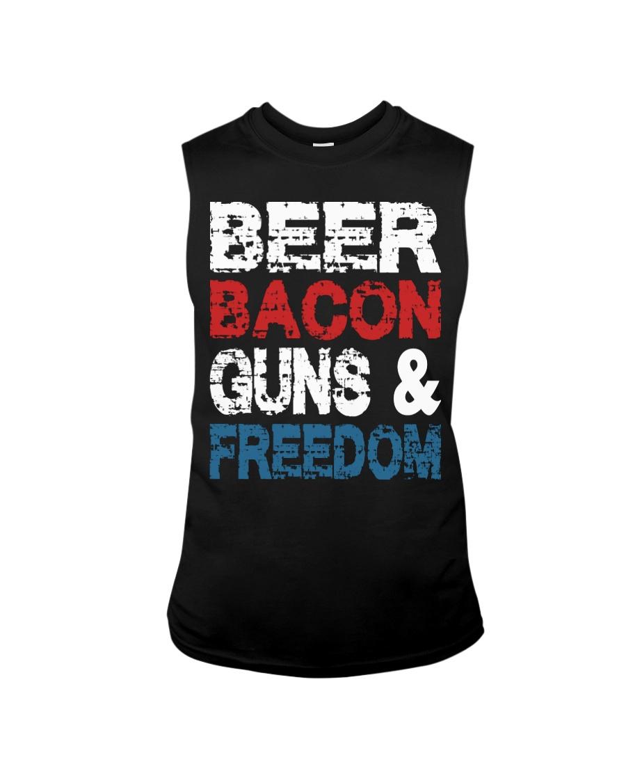 Beer Bacon Guns And Freedom Tank Top Sleeveless Tee