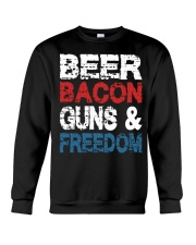 Beer Bacon Guns And Freedom Tank Top Crewneck Sweatshirt thumbnail
