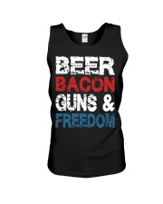 Beer Bacon Guns And Freedom Tank Top Unisex Tank thumbnail