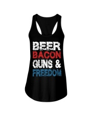 Beer Bacon Guns And Freedom Tank Top Ladies Flowy Tank thumbnail