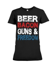 Beer Bacon Guns And Freedom Tank Top Premium Fit Ladies Tee thumbnail