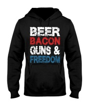 Beer Bacon Guns And Freedom Tank Top Hooded Sweatshirt tile