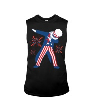 Dabbing Uncle Sam T-shirt Fourth Of July Tank Tops Sleeveless Tee front