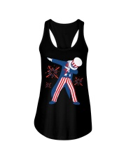 Dabbing Uncle Sam T-shirt Fourth Of July Tank Tops Ladies Flowy Tank thumbnail