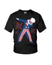 Dabbing Uncle Sam T-shirt Fourth Of July Tank Tops Youth T-Shirt thumbnail