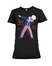 Dabbing Uncle Sam T-shirt Fourth Of July Tank Tops Premium Fit Ladies Tee thumbnail