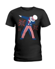 Dabbing Uncle Sam T-shirt Fourth Of July Tank Tops Ladies T-Shirt thumbnail