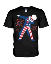 Dabbing Uncle Sam T-shirt Fourth Of July Tank Tops V-Neck T-Shirt thumbnail