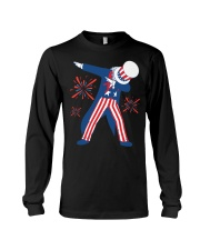 Dabbing Uncle Sam T-shirt Fourth Of July Tank Tops Long Sleeve Tee thumbnail