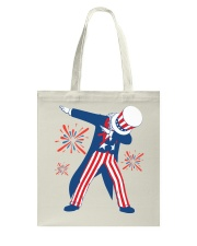 Dabbing Uncle Sam T-shirt Fourth Of July Tank Tops Tote Bag thumbnail