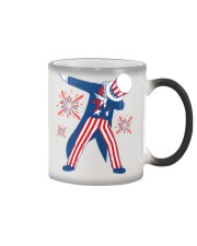 Dabbing Uncle Sam T-shirt Fourth Of July Tank Tops Color Changing Mug thumbnail